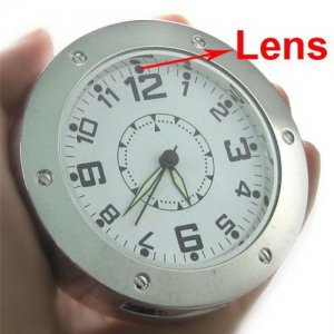 Clock Shaped Mini Spy Camera with Motion Detection and PC Camera Function